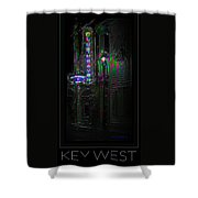 Key West Florida - Blue Heaven Rendezvous Shower Curtain