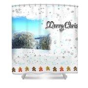 Christmas Card 24 Shower Curtain