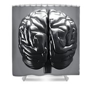 Metallic Brain Shower Curtain