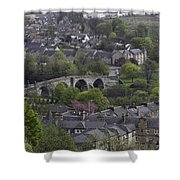 Old Stirling Bridge And Houses As Visible From Stirling Castle Shower Curtain