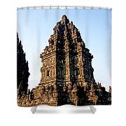 Prambanan Temple In Indonesia Shower Curtain