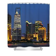 Pudong Skyline Shower Curtain