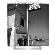 Route 66 - Lucille's Gas Station Shower Curtain