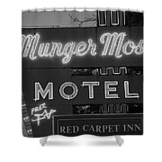 Route 66 - Munger Moss Motel Shower Curtain
