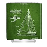 Sailboat Patent Drawing From 1938 Shower Curtain