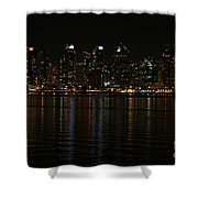 San Diego Skyline Night Shower Curtain