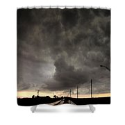 Severe Warned Nebraska Storm Cells Shower Curtain