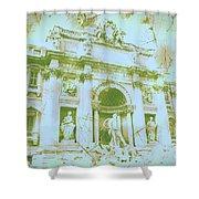 Trevi Fountain Landscape Shower Curtain