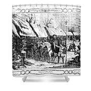 Valley Forge, Winter 1777 Shower Curtain