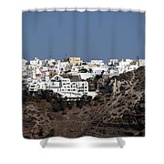 Views From Santorini Greece Shower Curtain