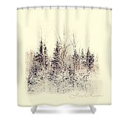 Winter Wonderland. Elegant Knickknacks From Jennyrainbow Shower Curtain by Jenny Rainbow