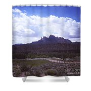 814 Sl The Silver  Fence  Shower Curtain