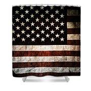 American Flag Shower Curtain