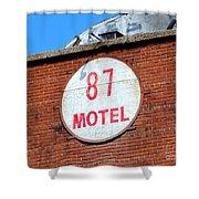 87 Motel Shower Curtain