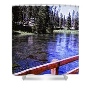 896 Sl Crossing The River Shower Curtain