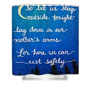 8x10 Dmb So Let Us Sleep Outside Tonight Shower Curtain
