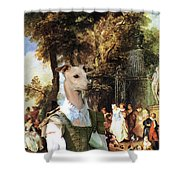Italian Greyhound Art Canvas Print  Shower Curtain