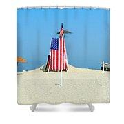 9-11 Beach Memorial Shower Curtain