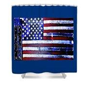 9-11 Flag Shower Curtain