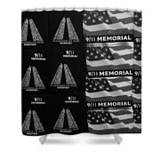 9/11 Memorial For Sale In Black And White Shower Curtain