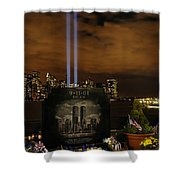 9-11 Monument Shower Curtain