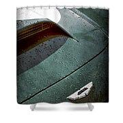 1959 Aston Martin Db4 Gt Hood Emblem Shower Curtain