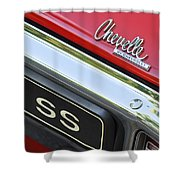1970 Chevrolet Chevelle Ss Taillight Emblem Shower Curtain