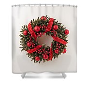 Advent Christmas Wreath  Shower Curtain