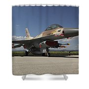 An F-16c Barak Of The Israeli Air Force Shower Curtain