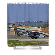An F-16d Barak Of The Israeli Air Force Shower Curtain
