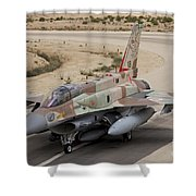 An F-16i Sufa Of The Israeli Air Force Shower Curtain