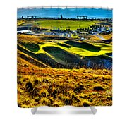 #9 At Chambers Bay Golf Course - Location Of The 2015 U.s. Open Tournament Shower Curtain by David Patterson
