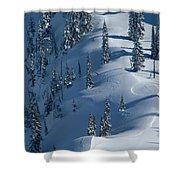 Backcountry Ski Traverse In Glacier Shower Curtain