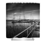 Bridge Of Lions St Augustine Florida Painted Bw Shower Curtain