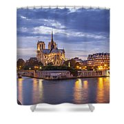 Cathedral Notre Dame Shower Curtain by Brian Jannsen