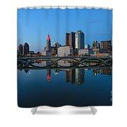 Fx2l-508 Columbus Ohio Skyline Photo Shower Curtain