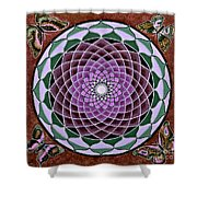 Cosmic Flower Mandala 6 Shower Curtain