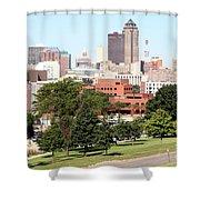 Des Moines Iowa Shower Curtain
