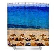 Elia Beach Shower Curtain