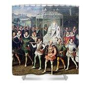 Elizabeth I  (1533-1603) Shower Curtain