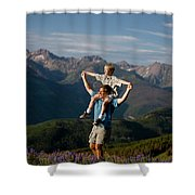 Family Hiking Shower Curtain