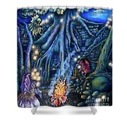 Flutter Flies Shower Curtain