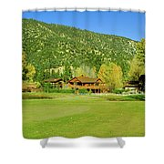 9-hole Golf Course In Autumn At Pine Shower Curtain