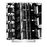 Lloyd's Building London Abstract  Shower Curtain
