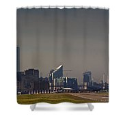 London City Airport Shower Curtain
