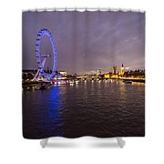 London Skyline Sunset Shower Curtain