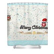 Christmas Card 29 Shower Curtain