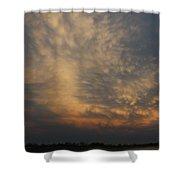 Nebraska Mammatus Sunset Shower Curtain