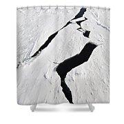 Pack Ice, Antarctica Shower Curtain