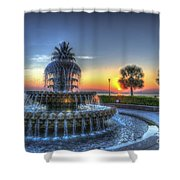 Pineapple Glowing Shower Curtain